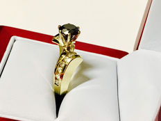 585 Yellow Gold Ring with 1,69ct Total Diamonds