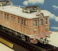 "Märklin H0 - 3171 - Electric ""Wooden locomotive"" D109 of the Swedish SJ, snowy version"