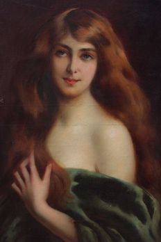Edouard Moderat of Otemar (1853-1917) - Ginger beauty