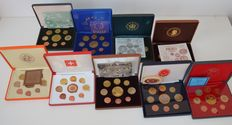World - Pattern sets 2003/2004 from various European countries (9 different sets)