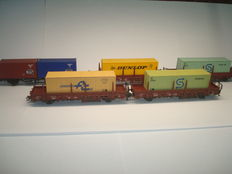Märklin H0 -  4768/4694 - 5 container wagons of the DB