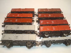 Märklin H0 - 4431/-30 - 9 high side carriages and 1 flat car of the DB