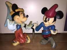 Disney, Walt - Figure - Mickey and Minnie Mouse - the brave little tailor - 1980s