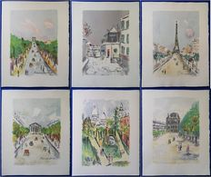 Maurice Utrillo (1883-1955) - Paris Capitale (set of 10 works)