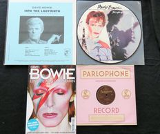 David Bowie - Great lot of 1 very limited LP, 1 PICTURE DISC LP, 1x 10 inch + glossy 'Een Ode Aan De Starman'