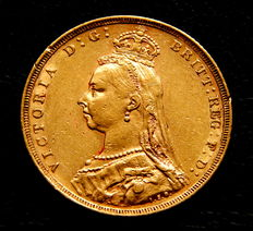 Australia – Queen Victoria – Sovereign year 1889 coined in Melbourne – Gold.