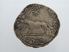 Papal States – 1522/23 – ½ Giulio – Anonymous, Piacenza (attributed to Adrian VI) - Silver