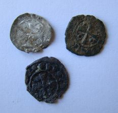 3 Crusader coins from the Crusaders, these people were believed to be the origin of the Freemasons.