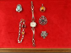 Silver items of jewellery, 6 pieces