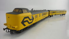 "Roco/Kleinspoor H0 - 44297/831 - Very exclusive two-part work train ""Ms. meetrijtuig"" of the NS"