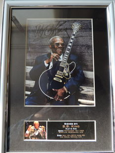 Beautiful - BB King - Memorial Signed Autograph Signed Picture Framed  Reprinted