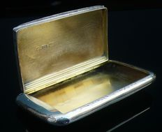 Antique Silver Snuff Box, Hallmarked Birmingham 1861, Edward Smith