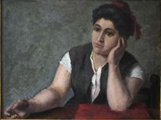 Anonymous, Lombard school (19th/20th century) - Ritratto di donna