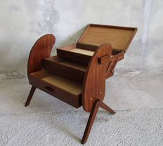 Beautifully designed foldable sewing table, Scandinavian, 1950s
