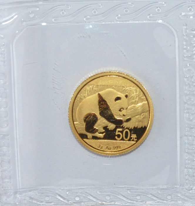 "China - 50 Yuan 2016 ""Panda"" - 1/10 oz gold"