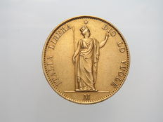 Provisional Government of Lombardy - 1848 - 20 Lire - Gold