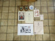 Lot of accessories and documents Freemasonry - 11 items