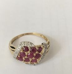 14k  yellow gold -ruby