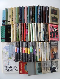 Georges Simenon; Lot with 55 publications - around 1958 / 2003