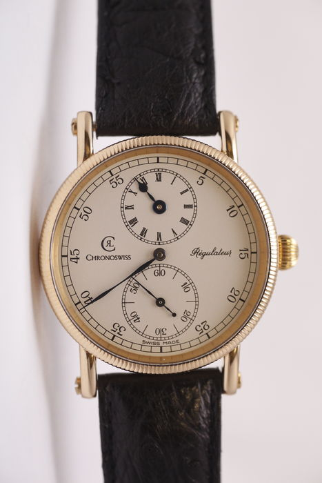 Complicated Chronoswiss movement - men's wristwatch from the 1990s
