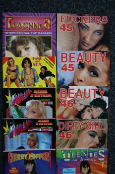 Pornography; Lot of 11 publications of various German top publishers-1996