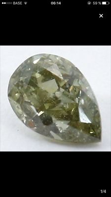 Rare green diamond, 0.10 ct - No reserve price