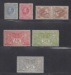 The Netherlands 1888/1920 - selection, including King Willem III – NVPH 19, 21, 61b and 84/86