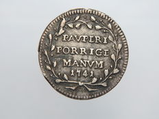 Papal States – 1741 – Grosso – Benedict IV – Silver