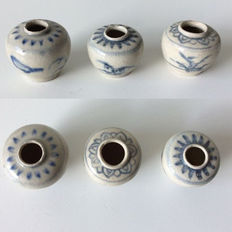 Hoi An jarlets - H. respectively 3.5cm, 4cm and 4.5cm (3x)
