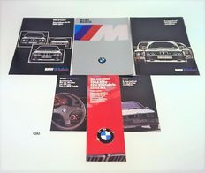 15X Car folders, brochures & 1X lithograph of BMW M Power from the 1980s