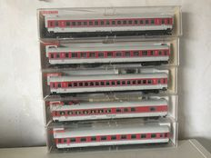 Fleischmann H0 - 5181/82/83/84/85 - Five Intercity carriages of the DB