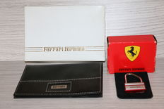 Ferrari Formula - black leather wallet + keychain