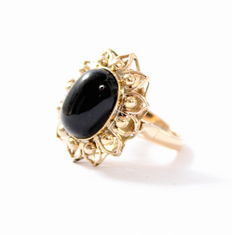 1950s ring with onyx