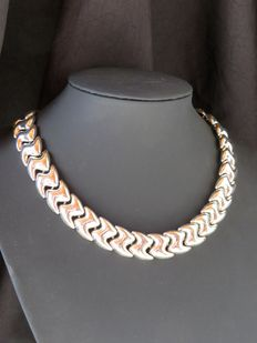 Amazing Napier silver plated choker necklace