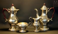 Solid silver coffee / tea service - Asprey & Co -  London - 1969
