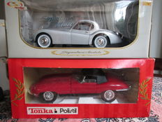 Signature Models / Tonka Polistil - Scale 1/16-1/18 - Jaguar E-Type &  Jaguar XK 120