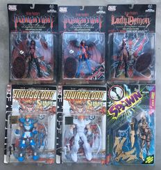 6 Action Figures - Sealed - 6x mint on card, including 1x variant and 1x signed - (1996 / 1997)