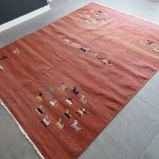 Beautiful Gabbeh Kilim, 228 cm x 176 cm, in very good condition