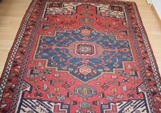 Old Persian Hamadan rug - around 1920-1940 - measurements: 190 x 130 cm - no reserve, bidding starts at 1 Euro