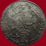"""Check out our Overijssel – Dukaton or silver rider from 1733 """"From the V.O.C. ship 't Vliegent Hart"""""""