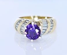 Amethyst and Diamonds ring - No reserve price!