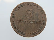 Duchy of Parma and Piacenza - 1830 - 3 Centesimi - Marie Louise, Duchess of Parma - Very rare