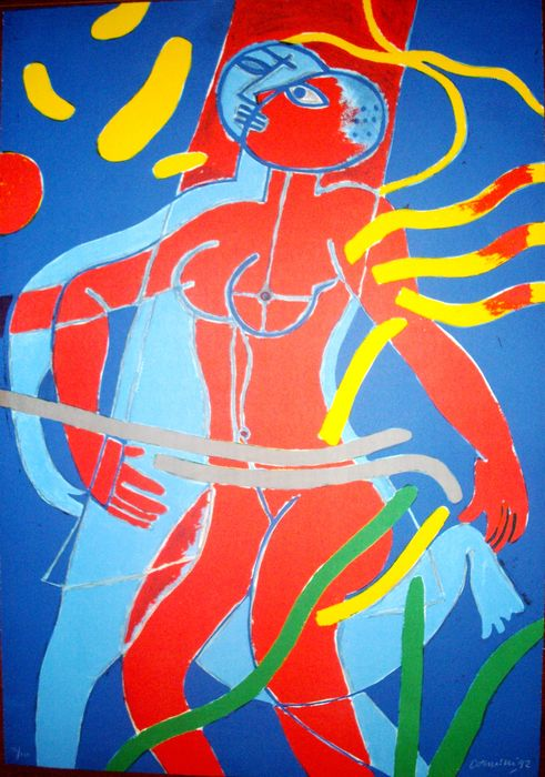 CORNEILLE Guillaume  - Olympic Centennial.  1992. Cataloged . Hand signed