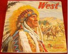 Panini - West - History of the indians - 1976 - Complete album.