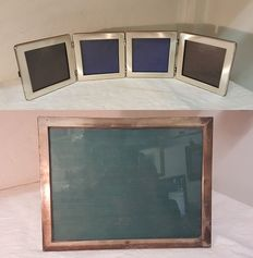 Pair of vintage silver picture frames from the 1960s