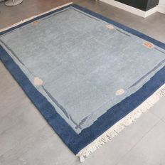 Wonderful, blue, Nepalese carpet - 225 x 170 - in very good condition.