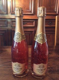 Luxor Pure Gold 24K Brut Rose Champagne - Limited edition - 2 bottles (75cl)