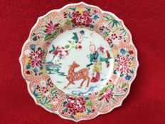 "Famille rose dish decorated with Hsi Wang Mu – ""Mother of the West"" - China - ca. 1730 ( Yongzheng period )"