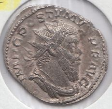 Roman Empire - Postumus Ar-Antoninian with large head and bust. Extremely rare. Lyon 260 AD rarity RRR*