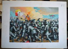 "Albertarelli, Rino - original illustration ""Battaglia medievale"""
